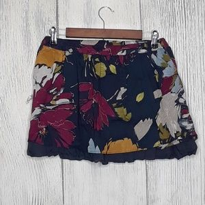 Abercrombie & Fitch Floral Linen Skirt, small